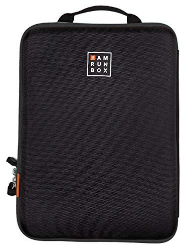 IAMRUNBOX Schwarz Singlepack Kleidertasche - Hemdentasche, Handtasche & Reisetasche -Kleidersack für den Transport von Hemden, Blusen & Hosen im Koffer - Idealer Begleiter auf Dienstreise & Reisen