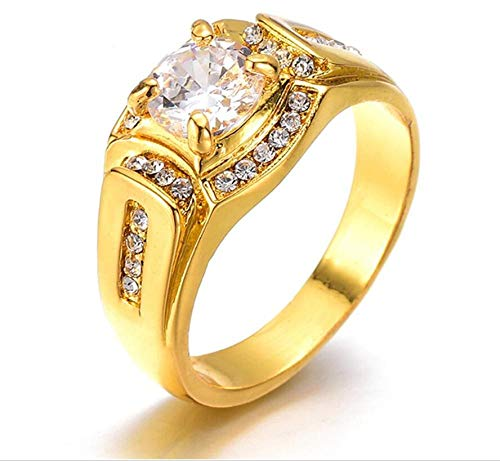 fe8184a282d617 GFLD Anelli Anello di Diamante di Uomini d'Affari Placcato 18 K Platinum Anello  Un