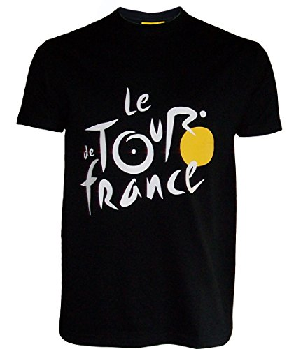 Le Tour de France de ciclismo – Camiseta oficial – para hombre, talla DE adulto, Le Tour de France, color negro, tamaño medium