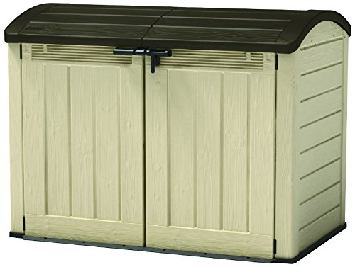 Keter Mülltonnenbox Store it Out Ultra, Beige, 2.000L