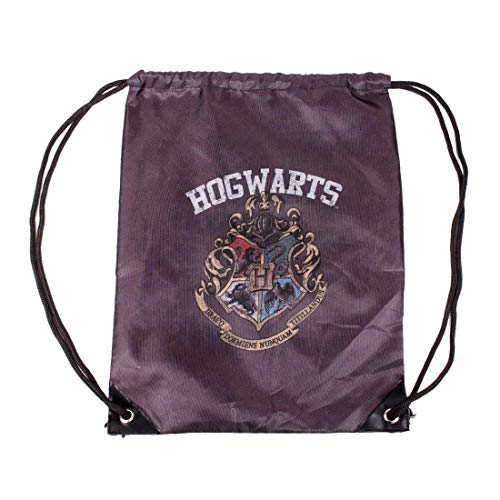 Harry Potter Sling Bag Unisex Turnbeutel - Hogwarts Wappen Logo (Schwarz)