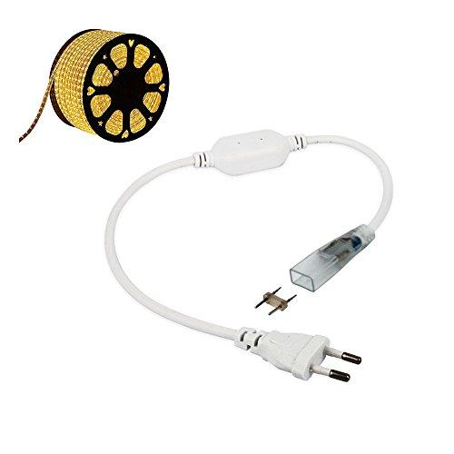 CLE Netzteil Einspeiser Zubehör für 100-240V 5050 LED Schlauch 230V weiß Wasserdicht