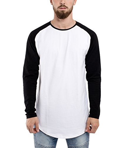 Phoenix Oversize Baseball Longsleeve Long T-Shirt Herren Longshirt Grau  Blau Rot Schwarz Grün -