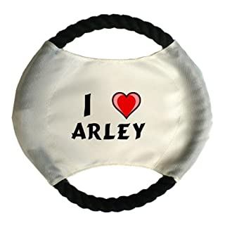 Personalised dog frisbee with name: Arley (first name/surname/nickname)