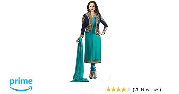 59cfe71803 Darshita International Women's Salwar Suits Salwar Suit Materials  (Prachiturquoise_Turquoise): Amazon.in: Clothing & Accessories