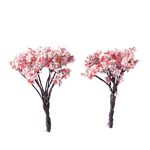 SUPVOX Künstliche Pflanze Mini Gefälschte Sakura Baum Faux Grün Für Home Party Dekoration Innen Grüne Pflanze Kleine Bonsai Pastoralen Wohnzimmer Büro Display Simulation Blume 10 STÜCKE