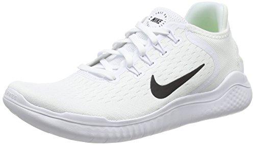 Nike Herren Free RN 2018 Mesh Laufschuhe, Weiß (Bianco/Nero 100), 42 EU