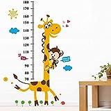 Bomcomi Wall Sticker Cartoon Giraffe Rimovibile da Parati autoadesiva murale di Arte della Decalcomania della Camera da Letto del Bambino