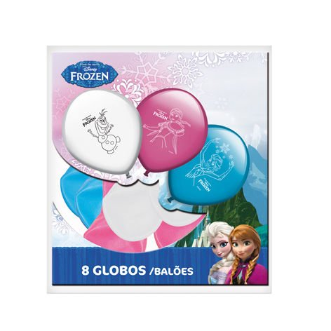 Frozen Pack de 8 Globos para Fiesta (Gabbiano 27639)