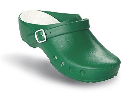 Schürr OP-Schuhe Chiroclogs Classic mit und ohne Fersenriemen Grun mit Fersenriemen