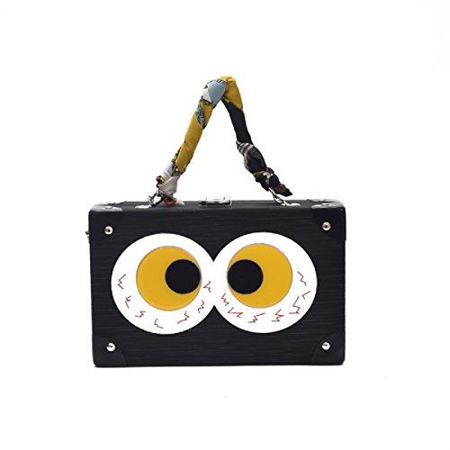 Preisvergleich Produktbild Lustige kleine Kettenschloss kleine quadratische Paket Mädchen Box Paket Schulter Messenger Bag Bankett Tasche