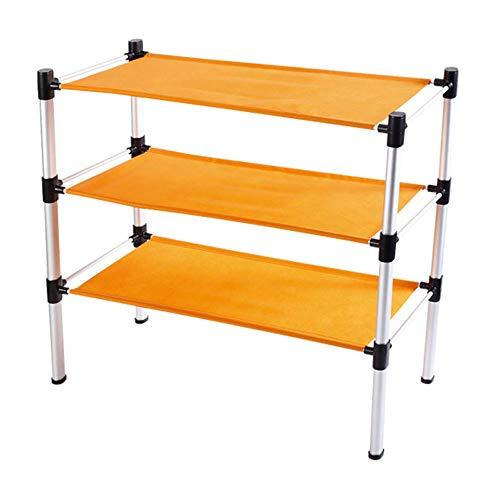 Vistania home sconto 3 tier ardesiata panno storage organizer scarpa in lega di alluminio stand rack 60 x 30 x 60 cm (l x p x h)