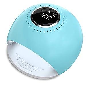 Lámpara LED UV Uñas – 84W Secador de Uñas con 5 segundos de secado rapido y Sensor Automático para manicura/pedicura de esmalte de uñas