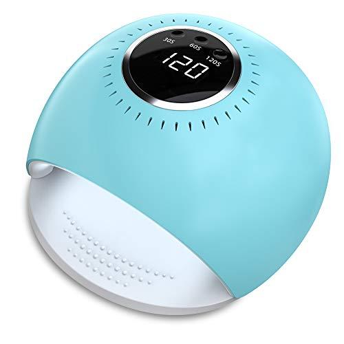 lampada uv led - 84w essiccatore per unghie a uv con 5 secondi di asciugatura rapida e sensore per smalto gel manicure/pedicure (blu)