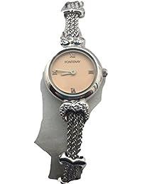 Le bracelet chaîne Dial Quartz rose de Fontenay Femmes montre avec coeur liens de forme