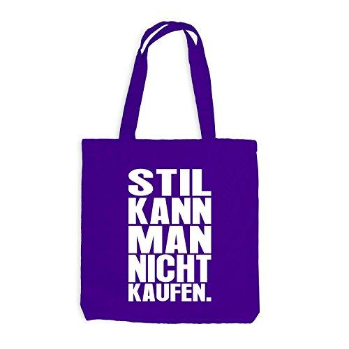 Jutebeutel - Stil kann man nicht kaufen - Style Design Casual Violett