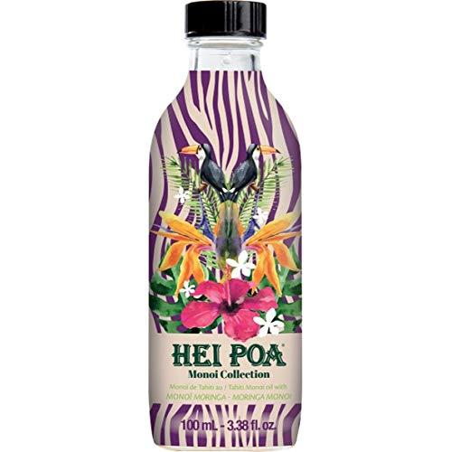 Hei Poa, Aceite corporal (Monoï Puro de Tahití, Perfume Moringa) - 100 ml.