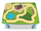 Bauernhof Möbelfolie / Aufkleber - MME01 - passgenau für den MAMMUT Tisch (eckig) von IKEA - Mit wenigen Handgriffen zum einzigartigen Spieltisch für Kinder! (Möbel nicht inklusive!!!)