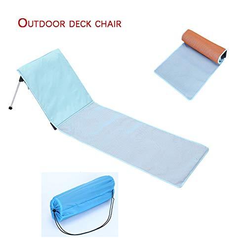 Bel Air Mini (ch-AIR Klappbarer Outdoor-Lounge Sessel platzsparende Gartenliege faltbar verstellbare Rückenlehne ideal für Garten und Camping,50 * 55 * 192cm)