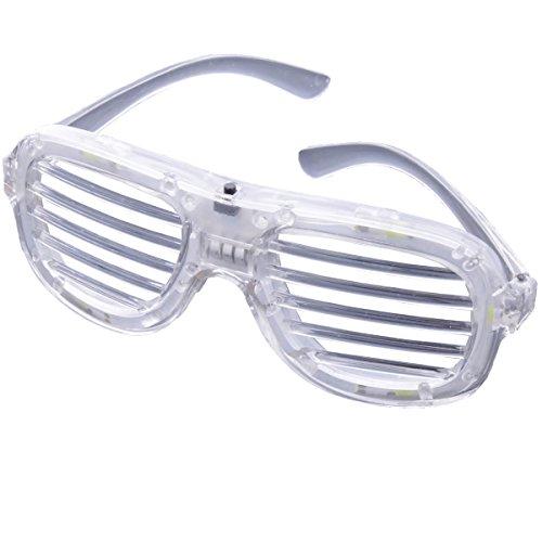 LED Club Party Brille Leuchtbrille Atzen Style Durchsichtig