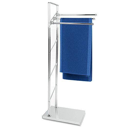 casa pura® Handtuchständer Apollo | freistehender Handtuchhalter | Testnote 1,8 | 3-armig | 38x20x93cm (Freistehend Handtuchhalter)