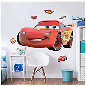 Walltastic Disney Cars Large Character Wall Sticker Set, Multi Colour