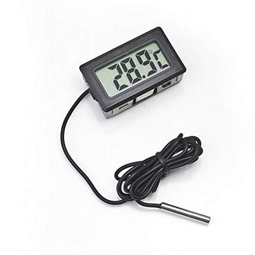 Yaoaoden Embedded-Digital-elektronische Digital-Thermometer Fy-10 Kühlschrank-Thermometer Schwarz