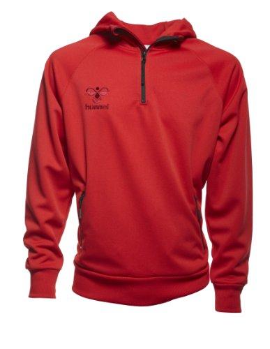Hummel, Felpa Uomo Corporate Poly Felpa con cappuccio, Rosso (sports red), XXL Rosso (sports red)