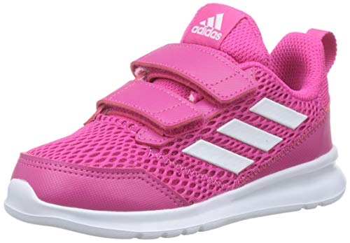 adidas Altarun CF I, Scarpe Sportive Unisex-Bambini, Rosa Ftwr White/Real Magenta, 27 EU