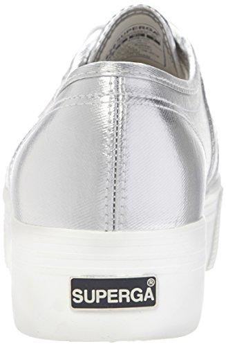 Superga 2790 Cotmetw, Sneakers Basses Femme Argent - Argenté