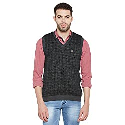 Duke Men Casual Sweater 1968078031 Anthra Coloured Small