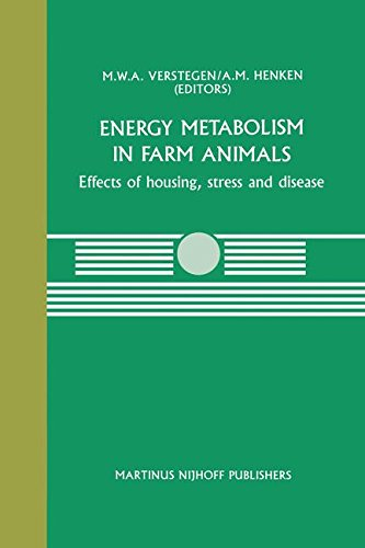Energy Metabolism in Farm Animals: Effects of housing, stress and disease (Current Topics in Veterinary Medicine)