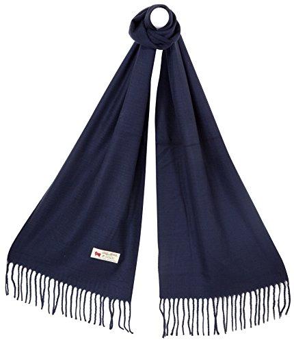 RW Fashion, Uomo / sciarpa delle donne, classico Cashmere & viscosa, - uni - SU892 (Blu)