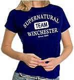 Team Winchester LADIES T-Shirt Navy, M