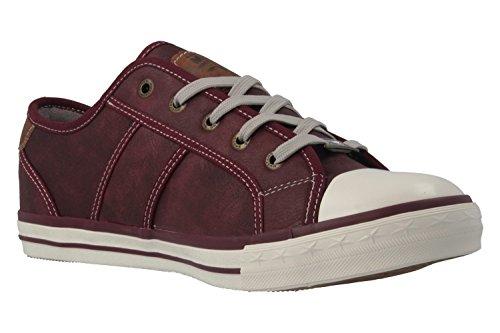 Mustang 1209-301, Sneakers Basses femme Bordeaux
