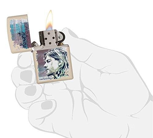 Zippo 60.002.308 Feuerzeug Kurt Cobain Collection Spring 2016, creme matte - 6