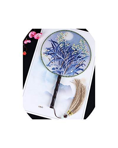 Sommer-Weinlese chinesische Stickerei-Runde Fans Handwohnkultur Tanz Fans Silk Dekoration Fans, Pflaume (Fan-tanz Koreanische)