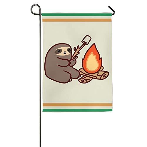 Breeze Banner Lagerfeuer Faultier 45,7x 68,6cm Langlebig Garten Flagge 12*18inch Weiß