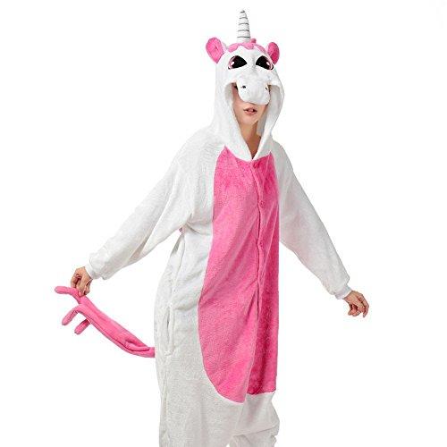 Missie Unicorn Halloween Unisex Unicorn Animal Costume Costume Cosplay Pyjamas rose rouge