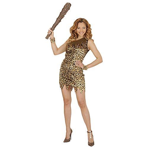 Kostüm Frau Steinzeit - Widmann 35454 - Erwachsenenkostüm Steinzeit Frau, Kleid und Gürtel, braun, Größe XL