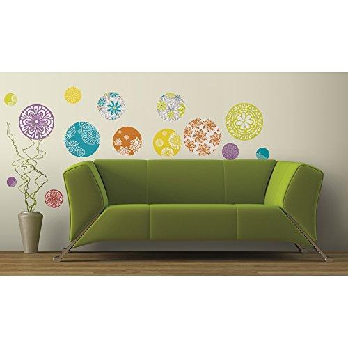 Jomoval RoomMates - Adhesivos murales reutilizables, diseño de círculos estampados