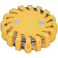 Gyrophare balise de signalisation lumineuse LED avec base magnétique (Jaune)