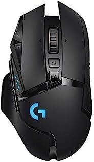 Logitech G502 LIGHTSPEED Ratón Gaming Inalámbrico, Captor HERO 25K, 25,600 DPI, RGB, Peso Reducido, 11 Botones