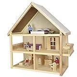 roba Puppenhaus Melhus mit Zubehör - Puppenstube aus Holz im schönen Design