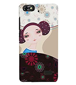 Fuson Nice Girl Back Case Cover for HUAWEI HONOR 4C - D3923