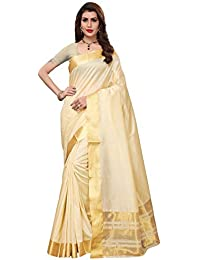 GoSriKi Art Silk with Blouse Piece Saree