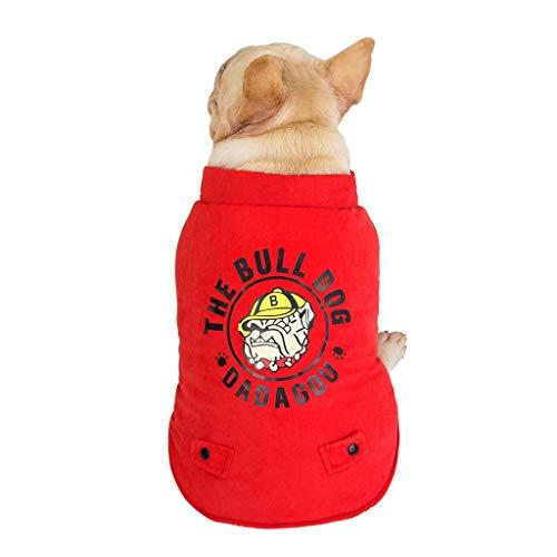 Haustier Hund Warm Mantel, Hawkimin Jacke Kleidung für Kleine Mittlere Große Hund Katze Winter Niedlich Haustierkleidung Hundekleidung Hundebekleidung Hundekostüm Welpenmantel Wintermantel - Niedliche Fußball Kostüm