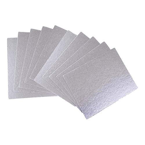 Poweka Universal Glimmerscheibe 10 Stücke für Alle Mikrowellen Blätter Glimmerplatten Ofen Reparatur Teil Platten, Ersatzteile passend für Bosch Siemens Sharp LG AEG, 150 * 100mm (Zuschneidbar)