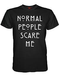 King of Merch - Herren T-Shirt - American Horror Story Normal People Scare Me Murder House Asylum Coven Freak Show Hotel Naomi Campbell Lady Gaga Kathy Bates Liz Taylor Hypodermic Sally