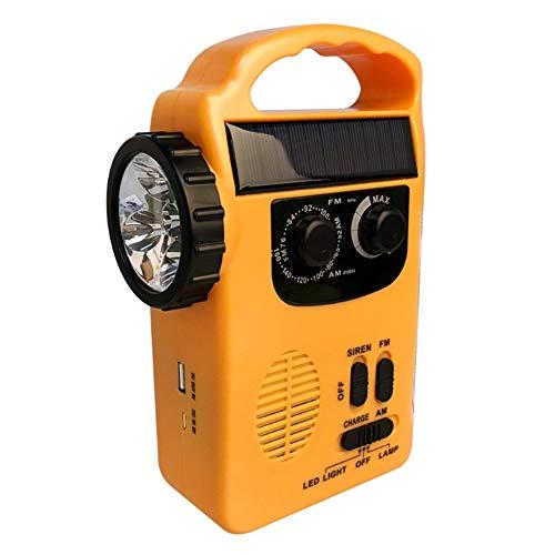 EYLIFE 4-Wege Solar Notradio Handkurbel AM/FM Radio mit LED Taschenlampe und 500mAh Power Bank - Betrieben Radio-taschenlampe Batterie